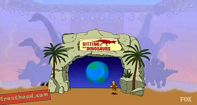 The Simpsons Sit With Dinosaurs