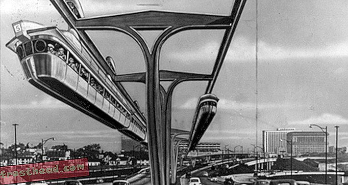 artykuły, blogi, paleofuture, historia, historia - Nikt nie chodzi po LA: The Rise of Cars and the Monorails That Never Were