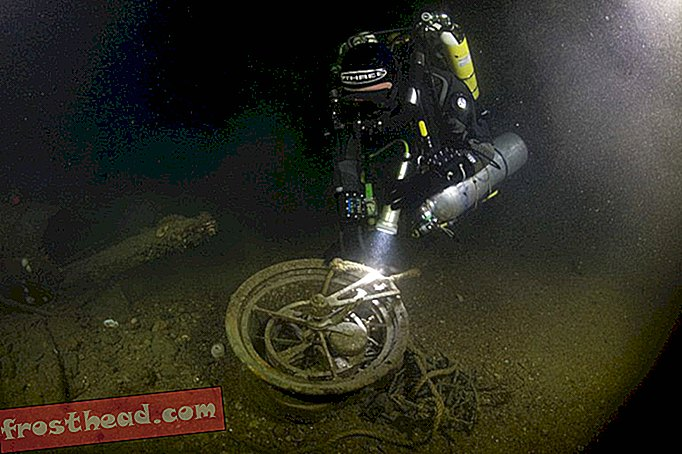 Telegraph Recovered from the Weck of the 'Lusitania'